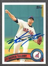 2011 TOPPS #445  Mitch Talbot  CLEVELAND INDIANS  SIGNED AUTOGRAPH AUTO COA