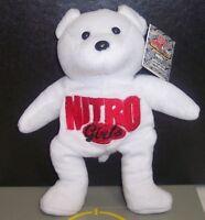 "1999 WCW/NWO Nitro's Bears n' Wolves ""Nitro Girls"" 8"" Plush Bear WWF WWE{469}"