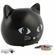 *Sass & Belle Black Cat Kitten Money Box Piggy Bank Cute Retro Home Decor Gift*