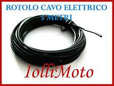 ROTOLO CAVO FILO ELETTRICO FLESSIBILE NERO 5 METRI 1.25 MM IMPIANTI MOTO VESPA