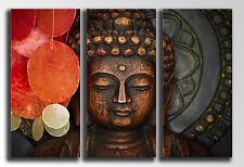 Cuadro Moderno Fotografico Buda Madera base madera,90 x 62 cm, Buda Buddha Retro