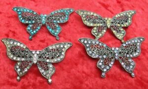 Jewelled Butterfly Hair Clip Barratt - Turquoise, Gold, Pink, Lilac