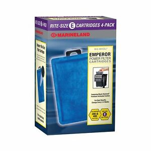 MarineLand Emperor Bio-Wheel Replacement Power Filter Cartridges 4-Count