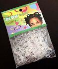 250 Mini Clear Hair Elastics Rubber Bands Braids Braiding Plaits Small Bands