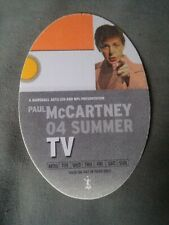 Paul McCartney Orange Tv Backstage Pass 2004 Summer Tour