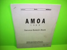 Williams Bally Midway Amoa 1989 Service Bulletin Book Pinball Machine + Arcade