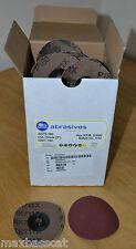 "Box Of 50 Quick Change 3"" 75mm ATA P180 Grit Discs AD75-180 NOT 3M Roloc"