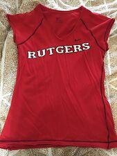NIKE RUTGERS Women Ladies Red Scarlet Knights TShirt Shirt Size Medium Preowned