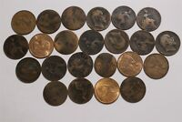 UK GB PENNY'S OLD COINS LOT B35 XU42