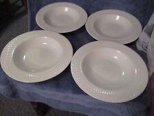 "American Atelier ""Apollo"" 5420  White Soup Bowl Set of 4 Basket Weave Design"