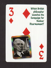 Bertrand Russell Campaign for Nuclear Disarmament Neat Playing Card #8Y5