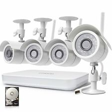 Zmodo 8ch NVR 720p High Definition Wireless WiFi Security Cameras New!!!!