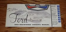 1965 Ford Full Size Car Owners Operators Manual 65 Galaxie