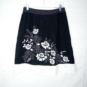 Ann Taylor Linen A-Line Skirt Women Size 4