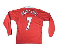 Manchester United 2004-06 Authentic Home Shirt L/S Ronaldo #7 (Excellent) XL