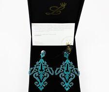 "Orecchini Luxury Fashion by Federica Tosi modello ""Dot Faith"" Blu petrolio"