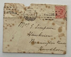 1p Victoria 1900s Melbourne to Hawthorn