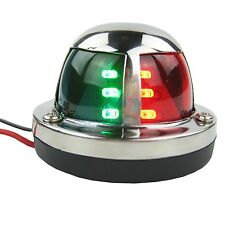 Marine Boat Yacht Bow Light 12V Stainless Steel Bi Color LED Navigation Lights