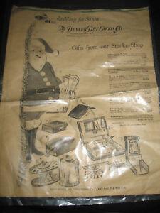 1955 Ad Denver Dry Goods Santa Claus Christmas Gifts Smoke Shop  Nov 28 1955