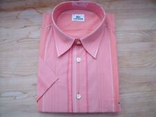 TA143 Lacoste  Businesshemd Kurzarm Gr.42 Lachs Orange Töne Längsstreifen Neu