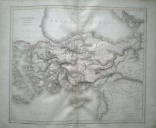 1821 LARGE MAP ANCIENT ASIA MINORMYSIA PHRYGIA etc HAND COLOURED  23 x 19 inches