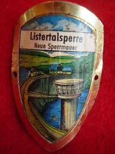 Listertalsperre Neue Sperrmauer badge stocknagel hiking medallion G1978
