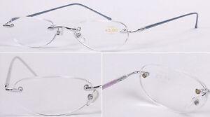 Superb Quality Classic Metal Reading Glasses/Women's Men's Rimless/Semi-Rimless*