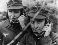"German Anti-Aircraft Female Radio Operators World War 2 1940, Reprint Photo 5x4"""