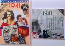 1941 76th Birthday Gifts Set - 1941 DVD , CD and Card - CD Gift Cards Company