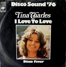 "7"" 1975 PARTY KULT! TINA CHARLES : I Love To Love /VG+"