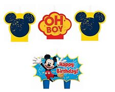 New Disney Mickey Mouse (4pc) Birthday Candle Set Kids Birthday Party Supplies