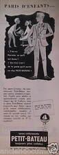 PUBLICITÉ 1957 PETIT-BATEAU SOUS-VÊTEMENTS SOLIDE PARIS D'ENFANTS - ADVERTISING