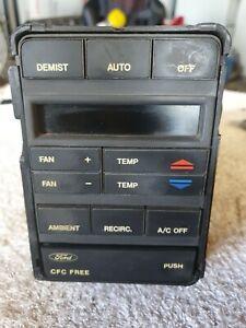 1992 Ford NC Fairlane V8 Climate Control Panel