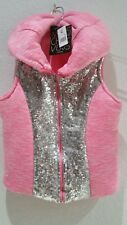 Miss Chievous Girls' Pink and silver sequin jacket-Size  XL