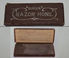 Vintage HUDSON RAZOR HONE Straight Razor Hone with Original Box