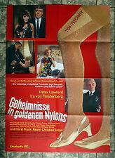 GEHEIMNISSE IN GOLDENEN NYLONS * A1-Filmposter - Ger 1-Sheet 1967 KRIMI EUROSPY