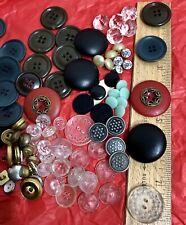 Assorted Estate Sale Buttons Lot Glass Metal Tailor Vintage Sewing Crafts Art