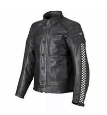 Triumph Mens Leather Cafe Racer Jacket MLHS14101-Large. Used