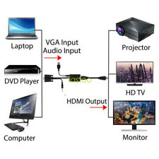 VGA to HDMI converter cable adapter with audio for PC laptop to HDTV Projector