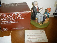 """1982 Norman Rockwell """" Doctor & The Dolll """" Figurine in box with Coa"""