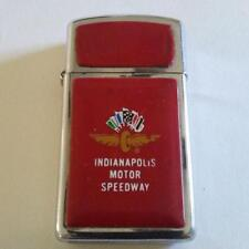 Zippo Indianapolis Motor Speedway Chrome & Red Lighter 1980s