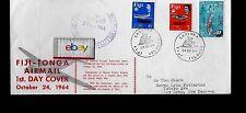 Fiji Airways 10-24-1964 Fiji-Tonga Airmail 1St Day Cover Heron 3 Fiji Stamps