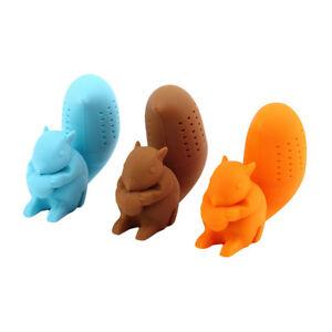 Cute Squirrel Tea Strainer Silicone Tea Infuser Filter Diffuser Tea Accessories