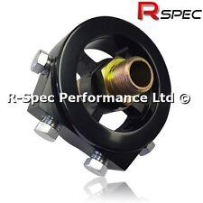 Black Sandwich Plate Adaptor Oil Temp / Pressure Gauge Sensor Honda Civic Type R