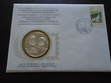 More details for intl postmasters 1st day cover & silver medal commemorate afrikaans language