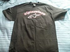 Alpinestars T Shirt Mens Large Black Red White new without tags