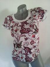 T-Shirt Shirt weiß lila rot rosa grün Gr. 36 s. Oliver Neuwertig       .       J