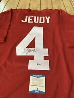 Jerry Jeudy Autographed/Signed Jersey Beckett COA Alabama Crimson Tide