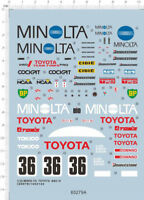 Detail Up 1/24 Scale MINOLTA TOYOTA 88C-V Sports Car Model Kit Water Slide Decal