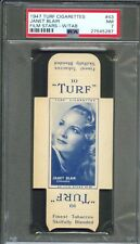 1947 TURF Cigarettes Card w/ Tab #43 JANET BLAIR Altoona Pennsylvania PSA 7 NM